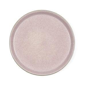 Pudrovoružový kameninový plytký tanier Bitz Mensa, priemer 27 cm