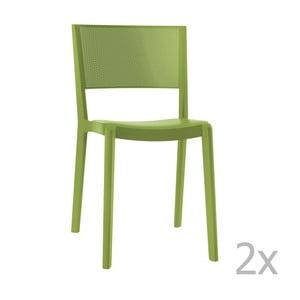 Sada 2 zelených záhradných stoličiek Resol Spot