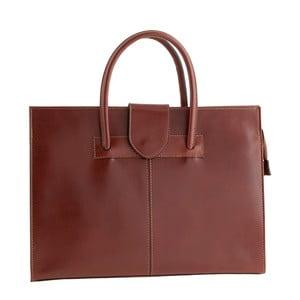 Hnedá kožená kabelka Ore Diece Bari