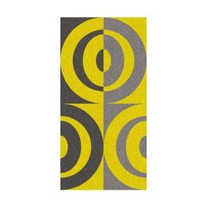 Osuška Ladessa, žlté kruhy, 70x140 cm