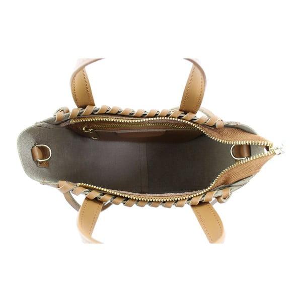 Kožená kabelka Genissa, hnedá