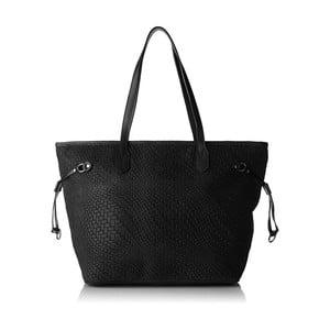 Čierna kožená kabelka Chicca Borse Girro