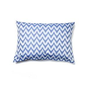 Modrá obliečka na vankúš z čistej bavlny Casa Di Bassi Aqua, 50 x 70 cm