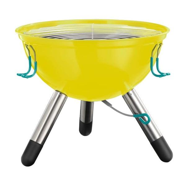 Menší žltý prenosný gril Jamie Oliver