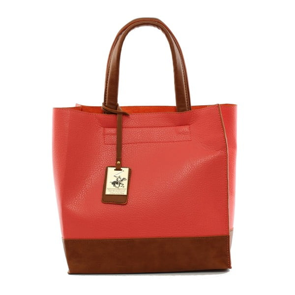 Kabelka Beverly Hills Polo Club 89 - Red/Tan