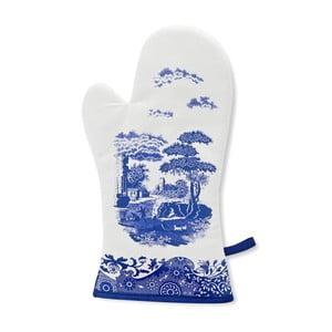 Bielo-modrá bavlnená kuchynská rukavice Spode Blue Italian