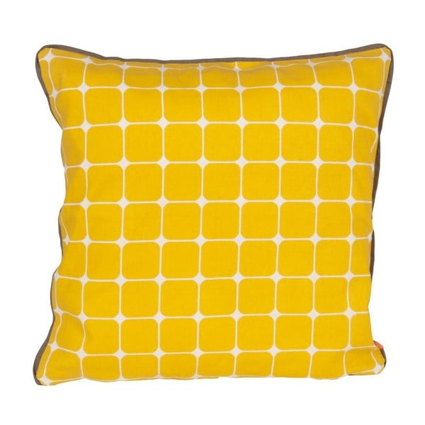 Vankúš s výplňou Tiles Yellow, 45x45 cm