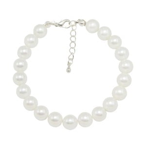 Biely náramok Swarovski Elements Crystal s perlami Musaventura
