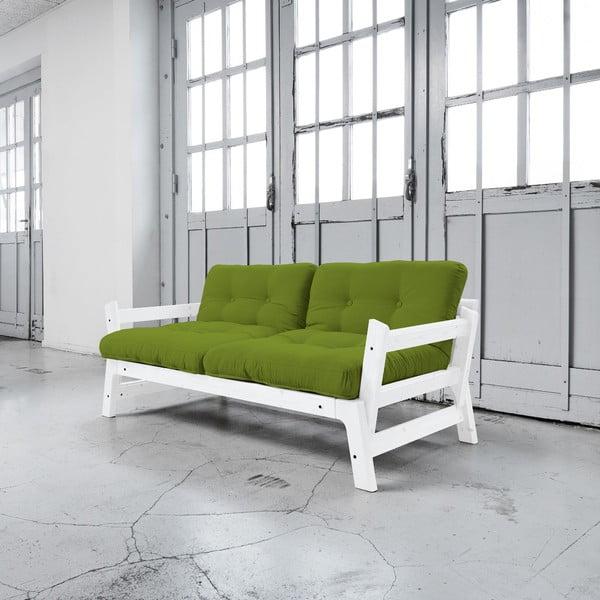 Rozkladacia pohovka Karup Step White/Lime