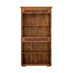 Knižnica z masívneho palisandrového dreva so zásuvkou Massive Home Rosie