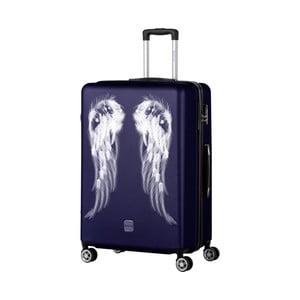 Tmavomodrý cestovný kufor Berenice Wings, 107 l
