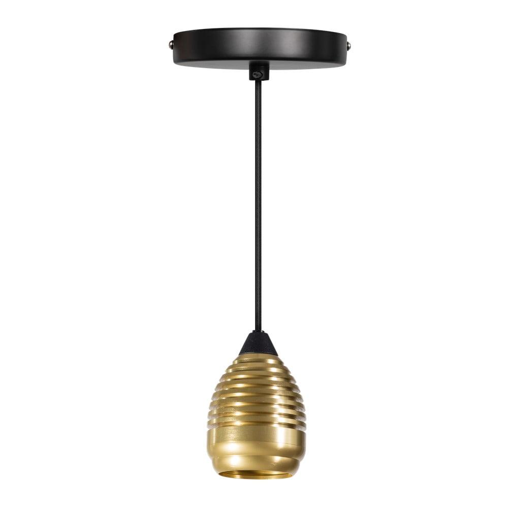 Kovové závesné svietidlo v zlatej a čiernej farbe ETH Wasp