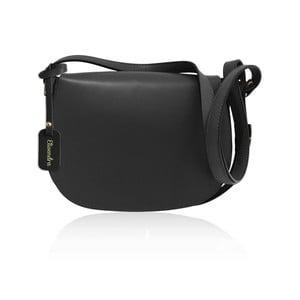 Čierna kožená kabelka Maison Bag Dallas