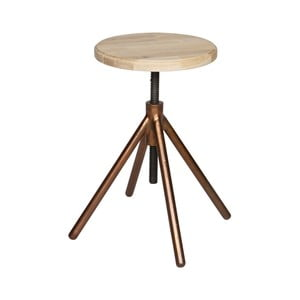 Drevená stolička s mosadznými nohami DeEekhoorn Lily