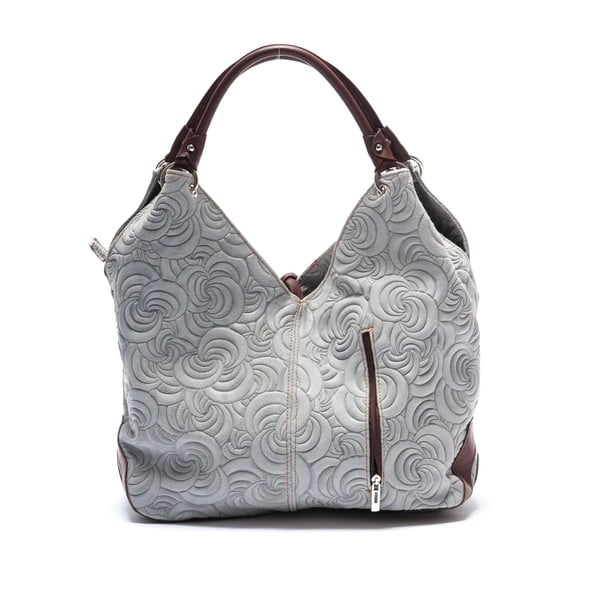 Kožená kabelka Mangotti 8002, sivá