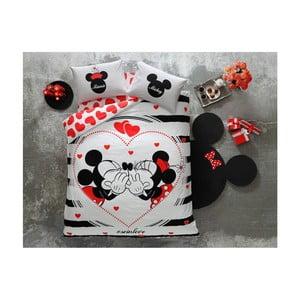 Fosforeskujúce obliečky na dvojlôžko s plachtou Mickey Licensed, 200×220 cm