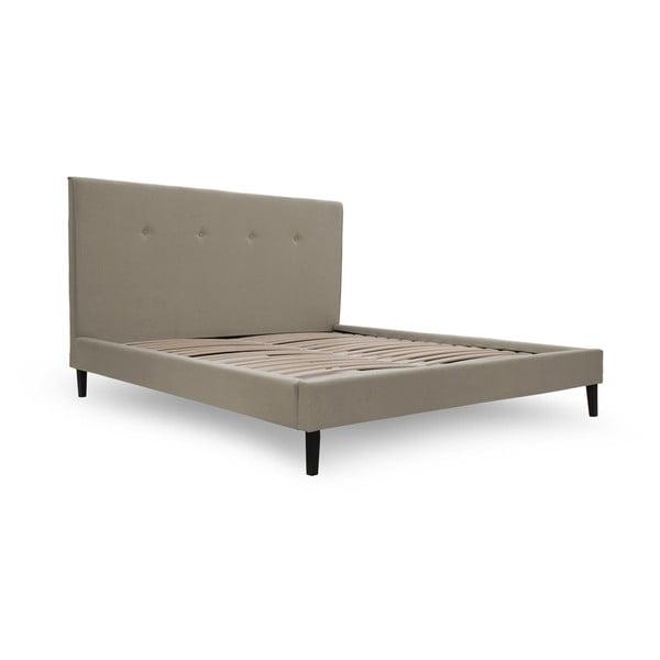 Svetlohnedá posteľ VIVONITA Kent 140x200cm, čierne nohy