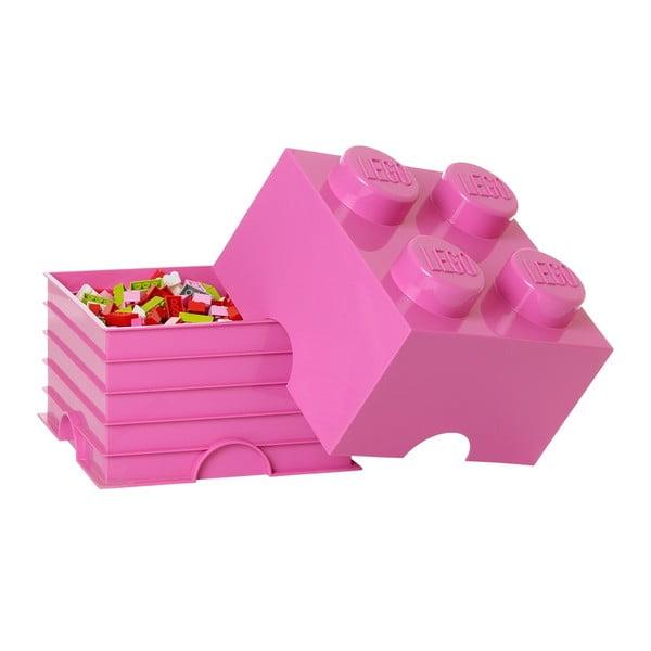Ružová úložná kocka LEGO® Friends