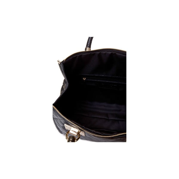 Čierna kožená kabelka Massimo Castelli Felice